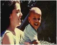 Barak Obama as a toddler with his mother