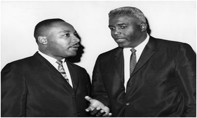 Martin Luther King Jr. and Jackie Robinson